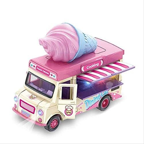 Toy Car with Music Lights and Openable Awning Ice Cream Toy Car Trolley