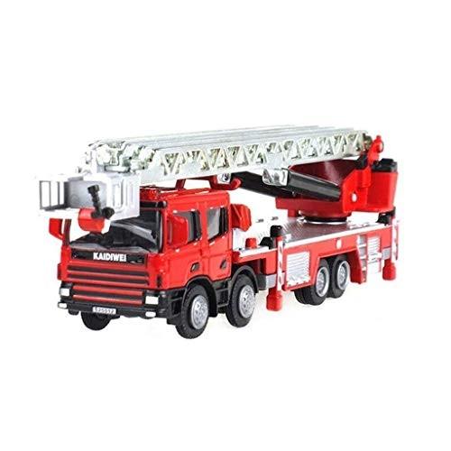 Toy Car Children's Toy Truck Model 1:50 Metal Ladder Fire Truck Model Toy Gift