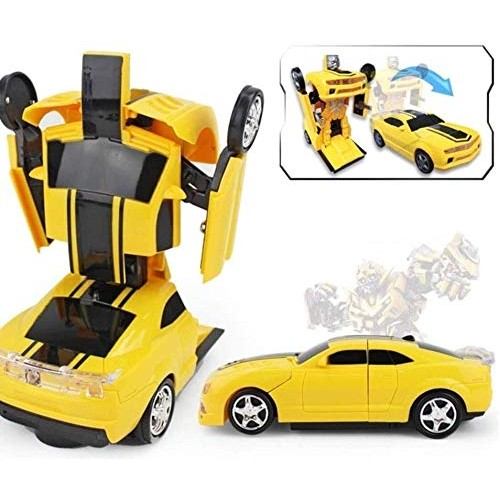 Children's Day Gift for Children Deformed Door Open Police car 360Rotating vibrato Induction Automatic