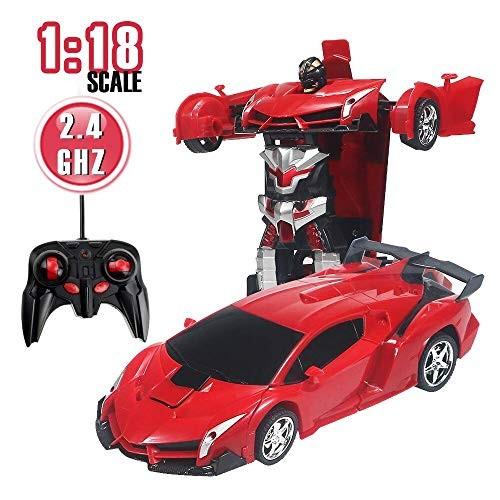 Kendyy RC Robot CarTransform Cars Robot Vehicle Toy Model Transformrobot 1:18 Scale 24 GHz