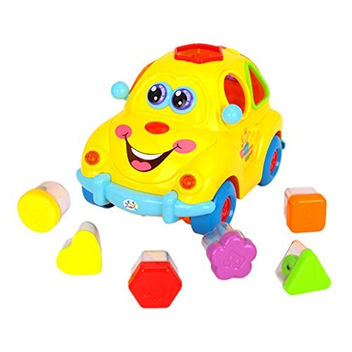scwopeuer Fruit car Electric Music Educational Cognitive Toys 1-3 Years Old