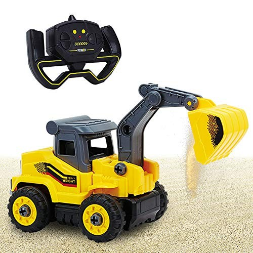 Walmeck RC Excavator 24Ghz Construction Vehicle Toy Electric Truck Digger Car for Children RC