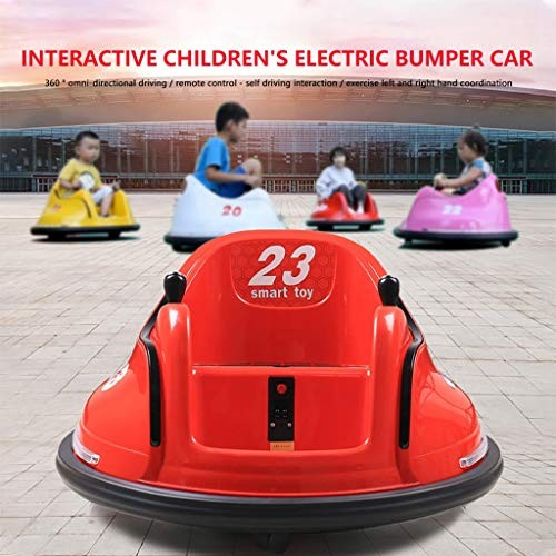 LOUJSB Electric Ride On Bumper Car for Toddlers Kids Baby Bumper Toy with Light