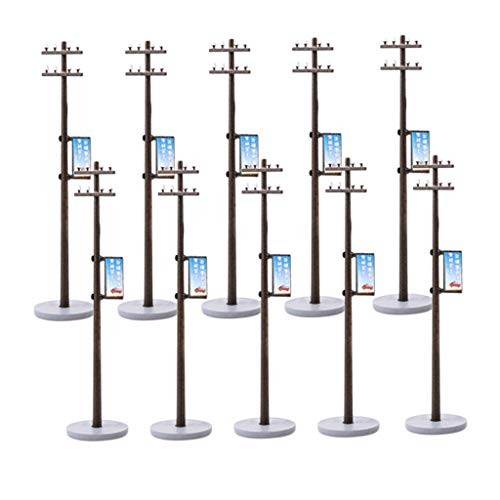 F Fityle 10pcs Model Railway Train Lamp HO 1/87 Scale for Model Train Layout
