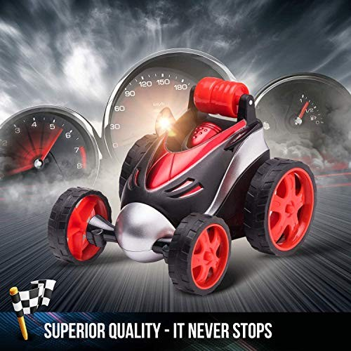 CGIIGI RC Stunt Car Toy Four-Wheel Drive Car Spinning Flipping Indoor Outdoor with Bonus-6