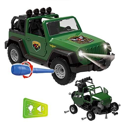 AZEWO US FAST SHIPMENT Kids Toys Set DIY Assembled Military Vehicle Car Off-Road Truck