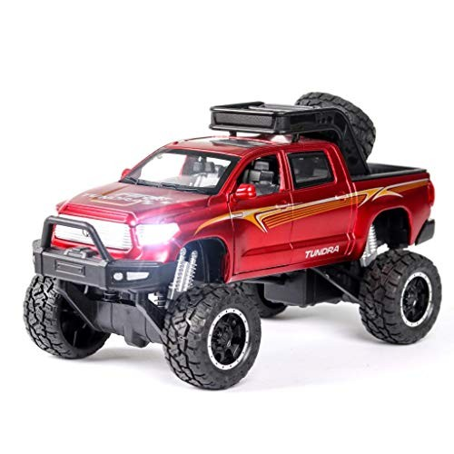 1:32 New Toyota Tundra Off-Road Big Wheel Diecast Toy Vehicles Car Model Metal with