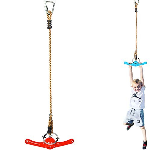 Winslow&Ross Ninja Line Attachments Obstacle Course Accessories – 360 Spinning Swing Toys for Kids