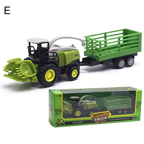 Shuohu 1/55 Diecast Farm Truck Action Figure ToyTractor Friction Car Model for Kids –