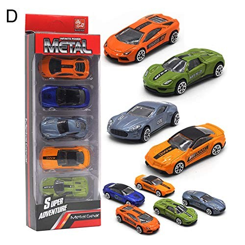 Shuohu 5Pcs 1/64 Diecast Alloy Action Figure Toy of Engineering Racing CarDecorative Vehicle Model