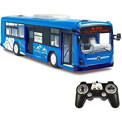 Zeyujie Remote Control Bus Children One Button Switch Door Toy Car Rechargeable Simulation Sound