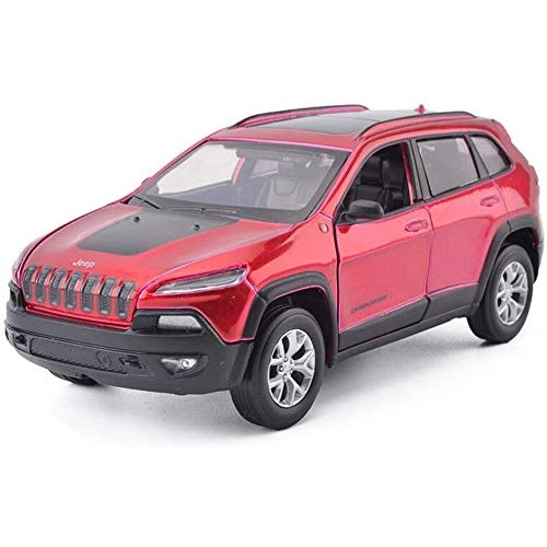 Zeyujie 1:32 Cherokee Free Light Alloy car Model Jeep Guide Four Open Sound and