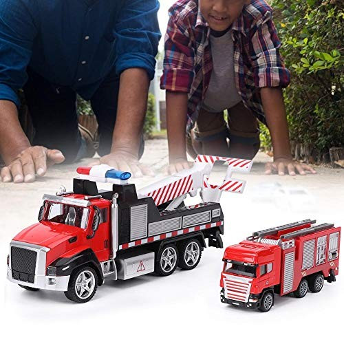 Redxiao Pull Back Vehicle ABS Material Simulation Car Toy Exquisite for Kids Children(Rescue Vehicle