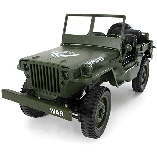 Zhangl 1:10 Remote Control Car 24G 4WD Convertible Truck Light Jeep 4-Wheel Drive Off-Road
