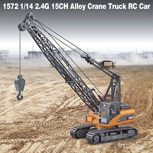 SUIKI Remote Control Truck Excavator Toy – Alloy Crane Truck Engineering Vehicle RC Car