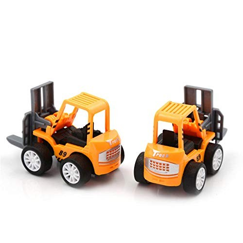 Friction Powered Cars Mini Educational Toys for Children 2 PCS Engineering Car Toys Kids