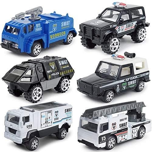 Zeyujie 1:87 (6 in a Box) Alloy Drop Resistant car Model Children's Toy car
