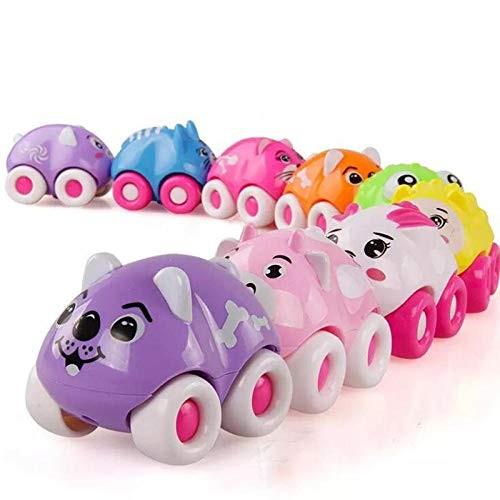 Friction Powered Cars 8 Piece Cartoon Mini Animal Magnetic Car Vehicle Children Educational Toys