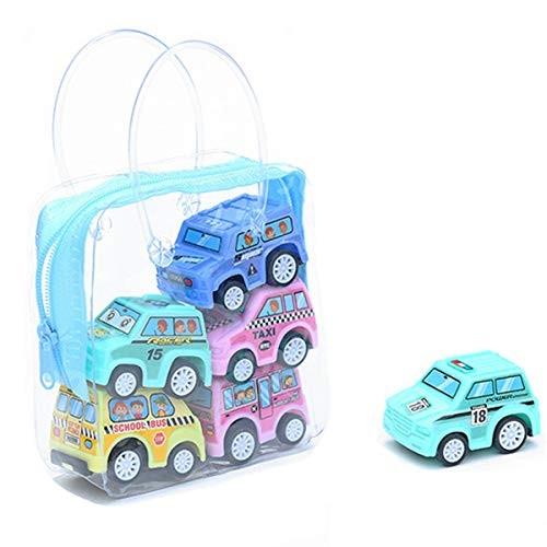 REFAHB Car Toys Set 6PCS Children Simulate Educational Trailer Toy Inertia Truck Kids Race