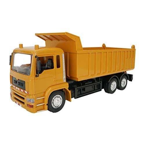TOYANDONA Construction Truck Toys Construction Vehicles Engineering Toys Cars Playset for Kids (1:24 Orange)