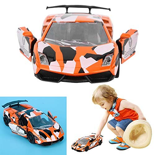 wosume Diecast Model Cars Toy Children Simulation Pull Back Toy Graffiti Vehicle Sport Car