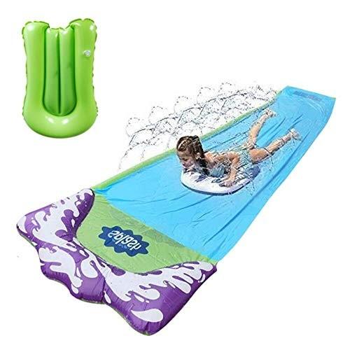 EPROSMIN 157 FT Lawn Water Slides Slip – Rainbow Slip Slide Play Center with