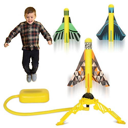 HISTOYE Toy Air Rocket Launcher for Kids Launch Toys with 3 Stunt Planes Boys