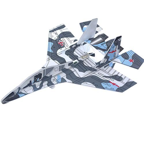 NUOBESTY Airplane Toys Throwing Foam Plane USB Charging Electric Glider Plane Assembly Flying Toy