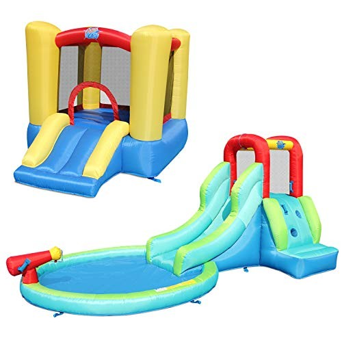 ACTION AIR Bounce House Bouncy House with Waterslide End of Year Bounce House Combo