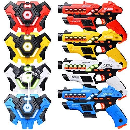 LUKAT Laser Tag Guns Set of 4 with Spray Function Upgraded Version  Laser