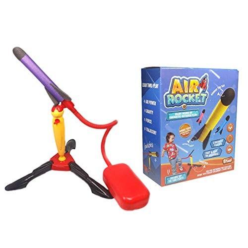 SMASAMDE Step on Rocket Set Outdoor Air Power Rocket Launcher Toys Foam Plane EVA