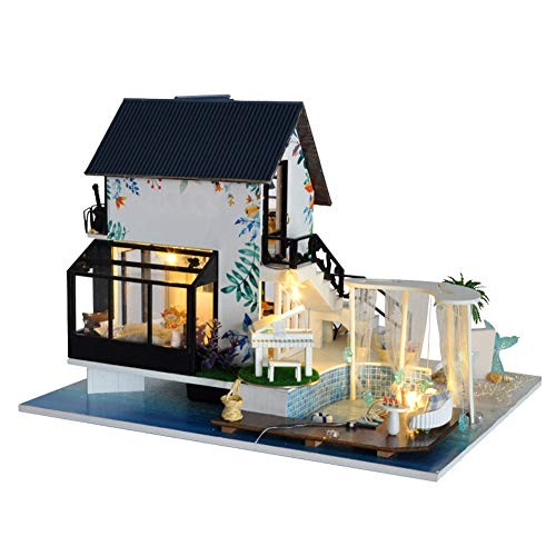 WYD Antique Villa DIY Cottage Sea View Doll House Assembled Seaside House Love House