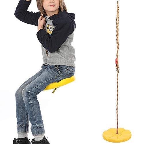 iFCOW Climbing Rope Tree Swing with Platforms and Disc Swings Seat Indoor Outdoor Disc