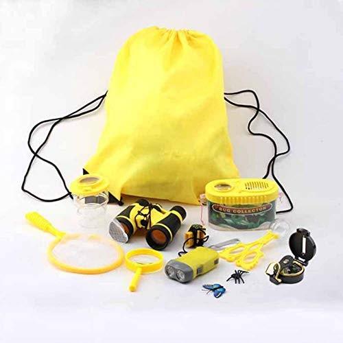Huiyin Outdoor Explorer Kit & Bug Catcher Kit with Binoculars Beam Mouth Backpack Hand-held