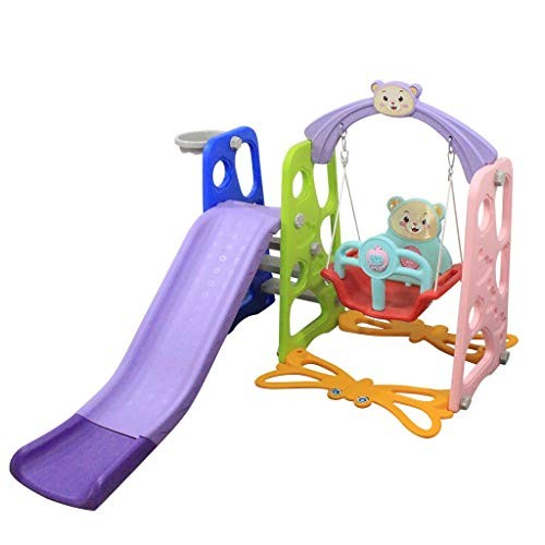 ZhiLoeng US Inventory Kid Slide Toddler Baby Play Climber Slide Set with Long Slipping