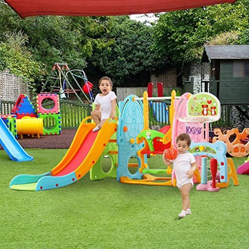 ZhiLoeng 7 in 1 Slide Swing Set MountaineeringBasketballFootballIndoor/Outdoor Toddler Toy Children Toy Playset Playground