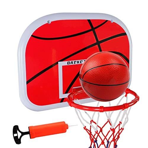 DUTUI Punch Free Hanging Children's Basketball Stand Iron Hoop Wall Mounted Basketball Hoop Children's