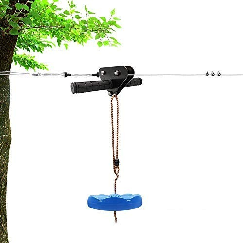 X XBEN Zip line Kits for Backyard 98FT Zip Lines for Kid and Adult