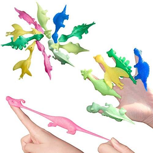AUBESTKER Stretchy Dinosaurs Kids Blaster Shooting Game Party Fidget Toys Novelty Bean Bag Toss