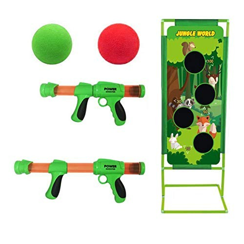 Never-hu Air Powered Shooter Toy Shooting Games Foam Ball Popper and Shooting Targets 2