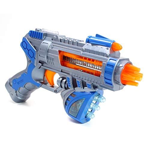 Superhero Galaxy Space Sonic Blaster Toy Gun Lights Sounds Vibrations for Kids  Blue
