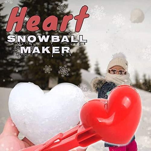 DZT1968 Heart Snowball Maker – Large Love Heart Shape Snowball Maker Winter Snowball Maker