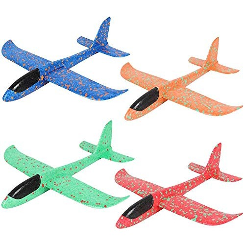 ADWA 3 Pieces of Airplane Toy Throwing Foam Airplane Glider Airplane Flying Toy Suitable