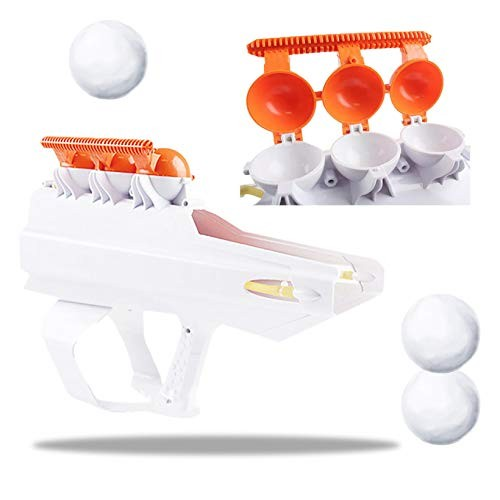 Snow Ball Blaster Toy Snow Ball Launcher Shooter 2-in-1 Winter Outdoor Snow Fight Snowball