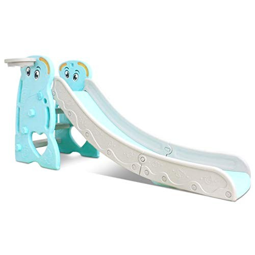 Linmkey Freestanding Kid Slide Baby Play Climber Slide Set with Extra Long Slipping Slope