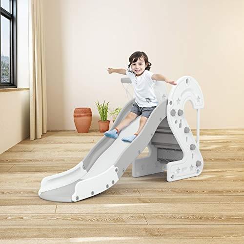 GAKINUNE Kid Play Slide Heavy Plastic Climb Playground Playset Toy Set for Toddler Children