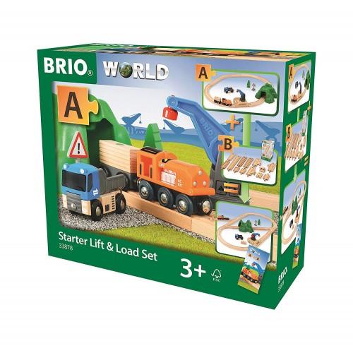 Brio Starter Lift & Load 19 pc Wooden Train Set