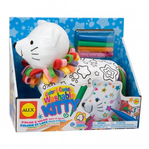 Brittany Stuffed Animal, Color Cuddle Washable Kitty Educational Toys Planet