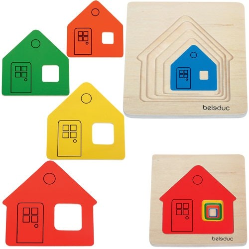 Cottage Layer Wooden Puzzle
