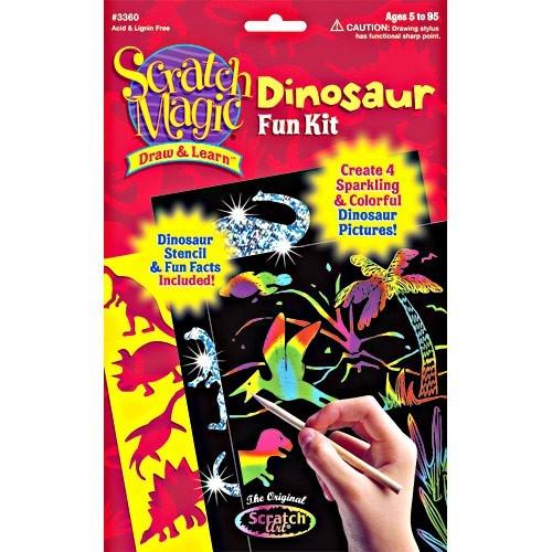Dinosaur Scratch Art Craft Kit